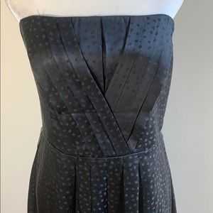 White House/ Black Market Strapless silk dress